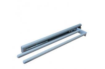 New Hafele Towel Rail 2 Bar Extendable - Anodised Silver