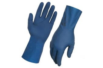 New Steeldrill Ultra Touch X Rubber Gloves 443003 Blue Slick Lined 30Cm 1 Set