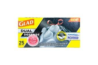 New Glad Forceflex Gffgb25 Garbage Bags, Drawstring 75L - Black Carton (6 Packs