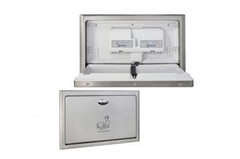 New Metlam Ml8200rec Baby Change Station Recessed Horizontal - Off White Plastic
