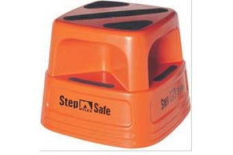New Brady Brady Step Safe Stool - Orange With Stops 500 X 500 X 360Mm