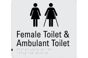 New Rba Budget Braille Sign Rba4330-830 Female Toilet and Female Ambulant Toilet