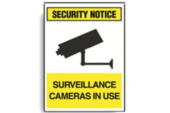 New Brady Security Notice Surveillance Cameras In Use Sign -