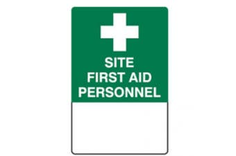 New Brady Emergency Information Site First Aid Personnel Sign - White/Green