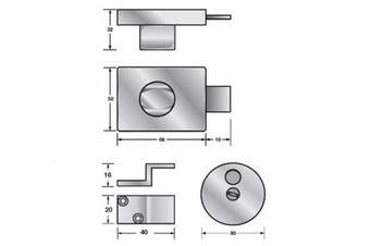 New Hafele Turnbolt Indicator Set and Staple - Chrome Plated Satin Set Includes,