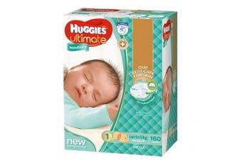 New Huggies Ultimate  Nappies Unisex - Disney Designs Newborn Size 1, Carton (28