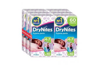 New Huggies Drynites Pyjama Pants With Disney/Pixar/Marvel Print - Boys (4-7Yrs)