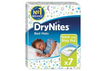 New Huggies Drynites Disposable Bed Mats 86Cm X 78Cm - White Carton (4X7 Packs)