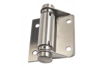 New Metlam Hardware 209 Spring Hinge Exposed Fix - Silver Closed, Screw Fix,