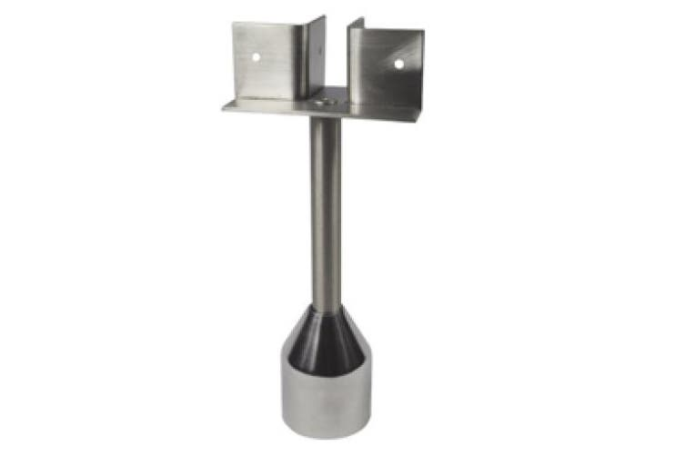 New Metlam Partition 122 Pedestal Leg T Piece Foot Assembly - Silver 180Mm Min -