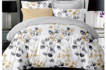 Idina Leaf Pattens Quilt Cover Set ( King size)