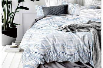 Kendal wave curves Reversible Quilt Cover Set (Queen size)