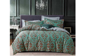 Vera Teal Green Quilt Cover Set