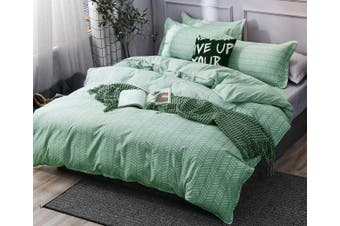 Dante Lime Grey Quilt Cover Duvet Cover Set ( King size)
