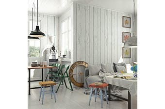Country Rustic Wood Panel wallpaper (white)