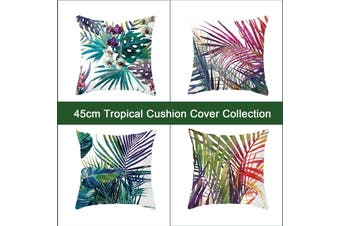 Tropical Cushion Cover 4pcs Pack Style Decoration tropical aqua turquoise color