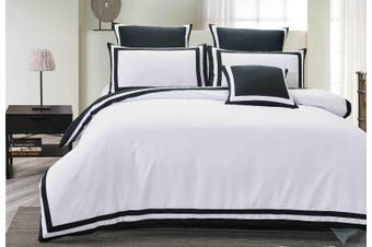 Halsey Black & White Doona / Quilt Cover set ( King size)