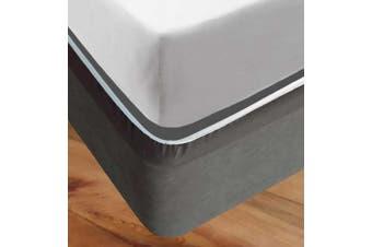Grey EZYFIT Bed Valance Stretch Bed Wrap