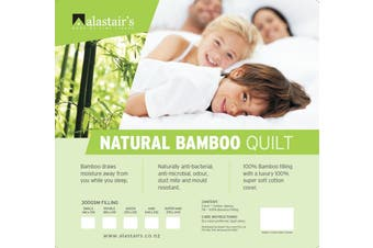 Alastairs Bamboo Fibre All Seasons 300gsm Quilt - Double