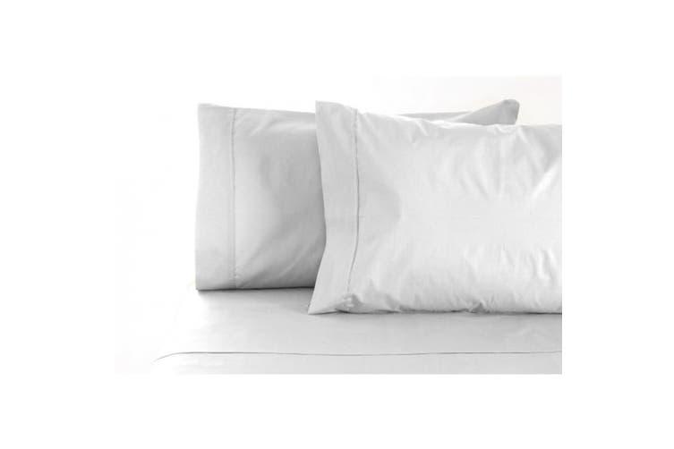 Jenny Mclean La Via Egyptian Cotton 400 Thread Count Sheet Set - King Single / White
