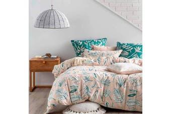Linen House Claude Sage Quilt Cover Set - Queen
