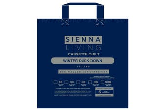 Sienna Living 80% Duck Down 20% Duck Feather Quilt - Queen