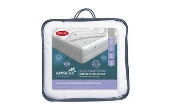 Tontine Comfortech Waterproof Quilted Fitted Mattress Protector - Queen