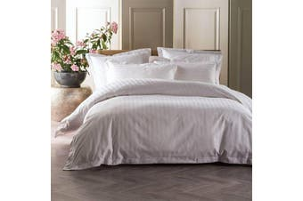 Linen House 1000 Thread Count Vaucluse White Quilt Cover Set - King