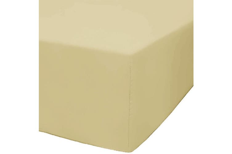 Park Avenue 1200 Thread Count Cotton Blend Fitted Sheet - Double / Taupe Tan