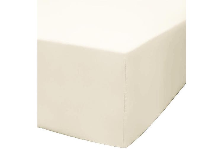Park Avenue 1200 Thread Count Cotton Blend Fitted Sheet - Queen / Ivory