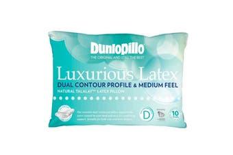 Dunlopillo Natural Latex Dual Contour Medium Feel Pillow - 48x73cm