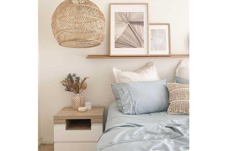 Sienna Living Bamboo Cotton 400 Thread Count Sheet Set - King Single / Light Silver