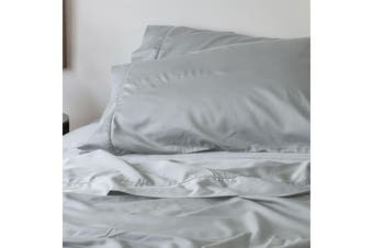 Sienna Living Bamboo Cotton 400 Thread Count Pillowcase Pair - Standard / Silver