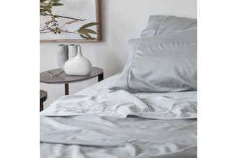 Sienna Living Bamboo Cotton 400 Thread Count Fitted Sheet - King Single / Light Silver