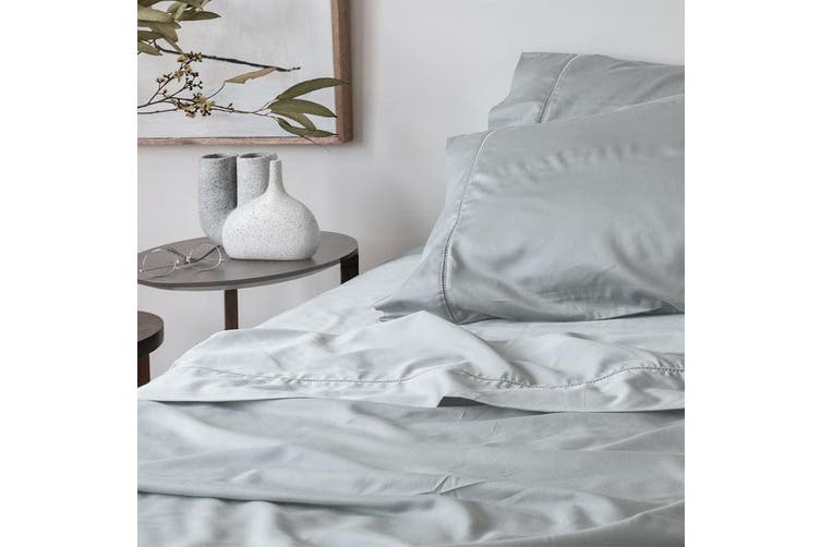 Sienna Living Bamboo Cotton 400 Thread Count Fitted Sheet - Long Single / Light Silver