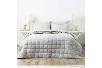 Park Avenue Paradis Washed Chambray Charcoal Silver Coverlet Set - Queen King / Charcoal Silver