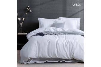 Amor Linen Cotton White Quilt Cover Set