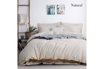 Amor Cotton Linen Natural Quilt Cover Set