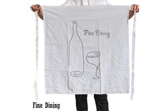 100% Cotton Master Chef Half Apron Heavy Duty Fine Dining