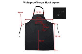 Waterproof Large Polyester Black Apron