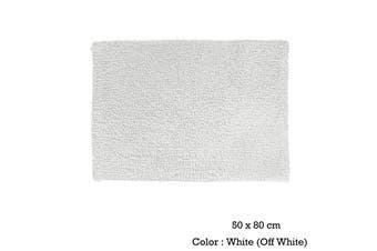 Bubbles Cotton Bath Mat 50 x 80cm White