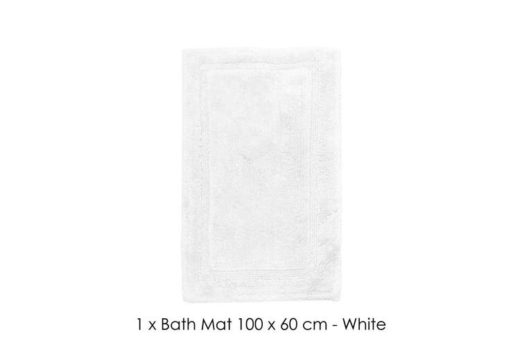 Oxford Microfibre Bath Mat 60 x 100 cm White