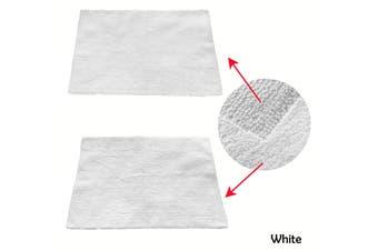 1 Piece of Reversible Cotton Bath Mat 55 x 85cm White