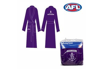 Dressing Gown Embroidered Logo Fremantle Dockers by AFL