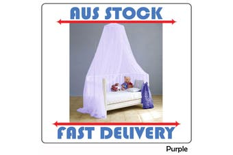 Nursery Baby Cot Size Bed Decorative Canopy Purple