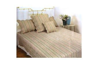 3 Pce 100% Cotton REGENCY Linen Olive KING Coverlet / Bedspread Set
