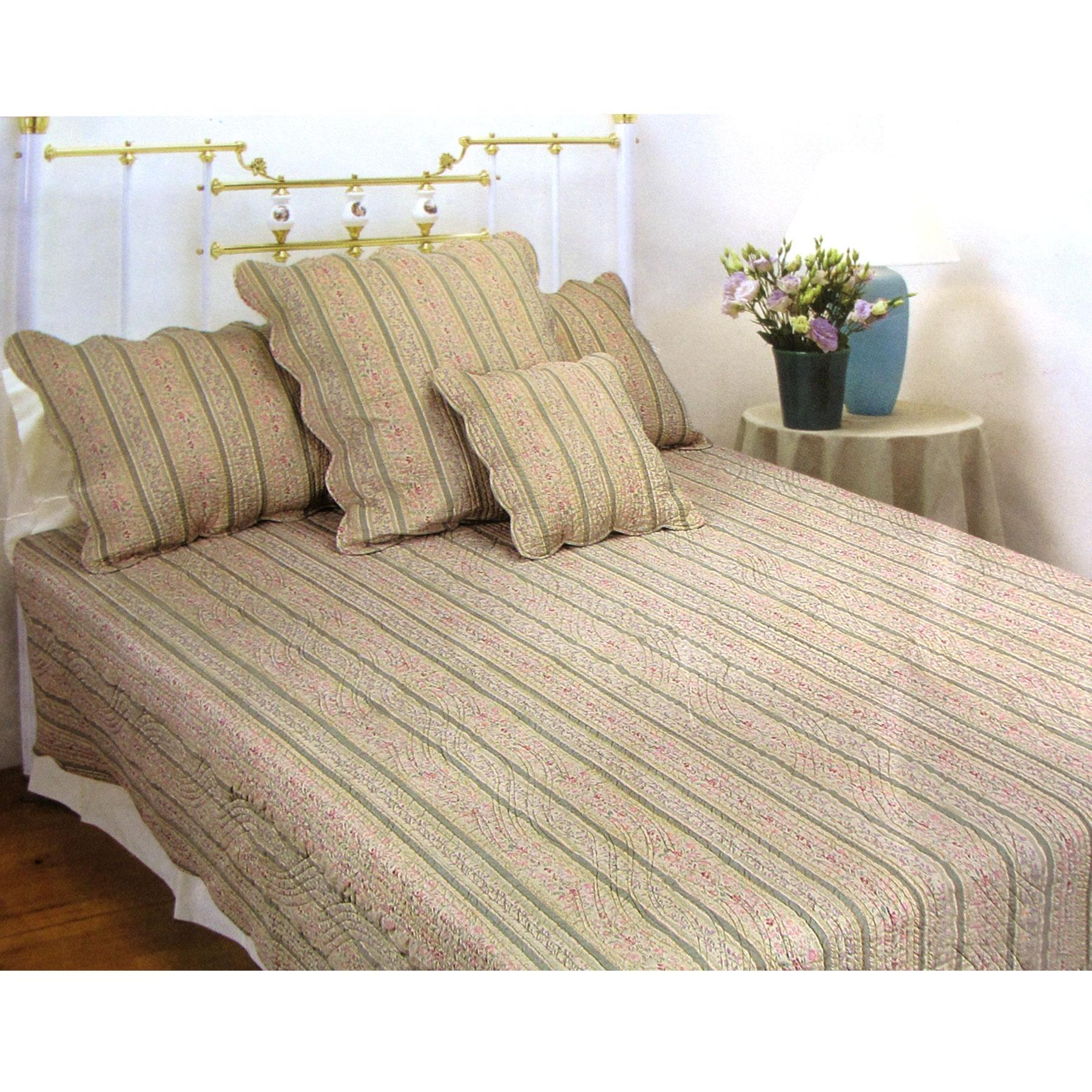 3 Pce 100 Cotton Regency Linen Olive King Coverlet Bedspread Set Matt Blatt