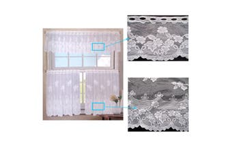 3 Pce Cafe Flora Lace Curtain Set