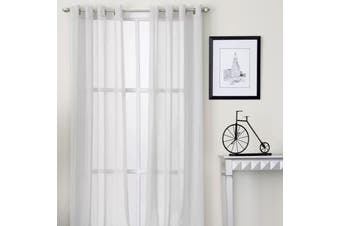 Pair of White Eyelet Sheer Curtains