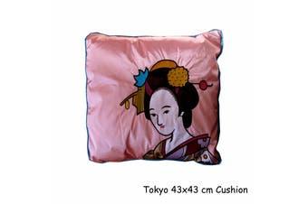 Tokyo Faux Silk Square Cushion